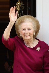 Margaret Thatcher Leaves The Cromwell Hospital After A Recent Bout Of Flu